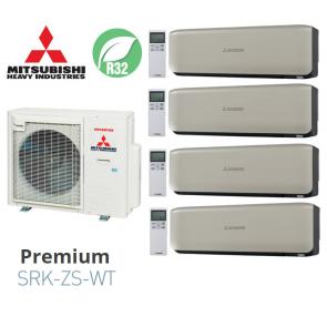 Mitsubishi Heavy Industries Quadri-split PREMIUM SCM80ZS-W + 3 SRK20ZS-WT + 1 SRK50ZS-WT
