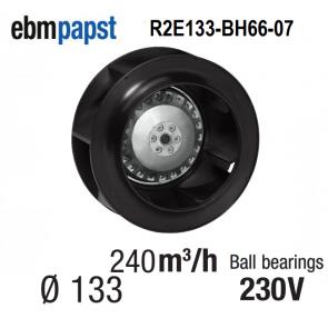 Ventilateur centrifuge EBM-PAPST - R2E133-BH66-07- en 230 V