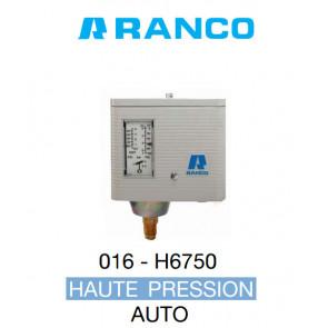 "Pressostat simple automatique HP ""Ranco"" 016H6750"