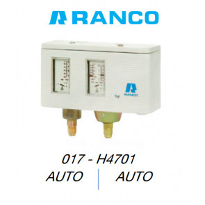 "Pressostat double automatique ""Ranco"" 017H4701"