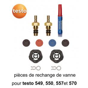 Kit de rechange de vanne pour manomètres froid Testo