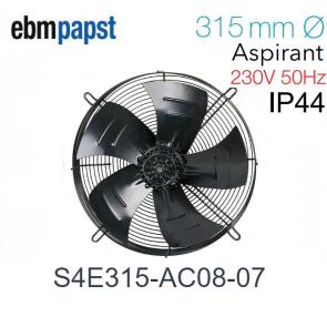 Ventilateur hélicoïde S4E315-AC08-07 de EBM-PAPST pour évaporateur ECO - Modèle CTE