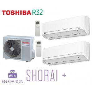 Toshiba SHORAI + Bi-Split RAS-2M10U2AVG-E +2 RAS-B07J2KVSG-E
