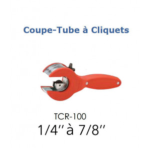 "Coupe tube à cliquet TCR-100 de 1/4"" a 7/8"""