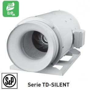 Ventilateur de conduit ultra-silencieux TD-SILENT - TD 1300/250 SILENT 3V de S&P