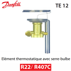 Elément thermostatique TEX 12 - 067B3210 - R22/R407C Danfoss