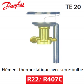 Elément thermostatique TEX 20 - 067B3274 - R22/R407C Danfoss