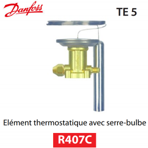 Elément thermostatique TEZ 5 - 067B3278 - R407C Danfoss