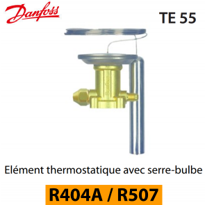 Elément thermostatique TES 55 - 067G3302 - R404A, R449A, R407A, R452A/R507 Danfoss