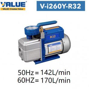 Pompe à vide double étage avec vacuomètre V-i260Y-R32