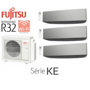 Fujitsu Tri-Split Mural AOY71M3-KB + 2 ASY20MI-KE Silver + 1 ASY40MI-KE Silver