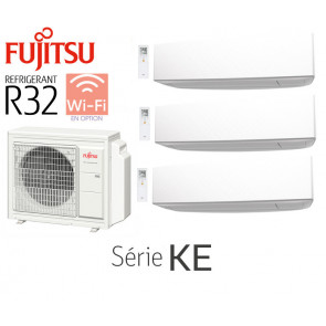 Fujitsu Tri-Split Mural AOY50M3-KB + 2 ASY20MI-KE + 1 ASY25MI-KE