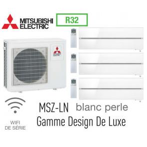 Mitsubishi Tri-split Mural Design De Luxe MXZ-4F83VF + 2 MSZ-LN25VGV + 1 MSZ-LN35VGV - R32