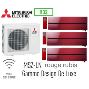 Mitsubishi Tri-split Mural Design De Luxe MXZ-4F83VF + 2 MSZ-LN25VGR + 1 MSZ-LN35VGR - R32