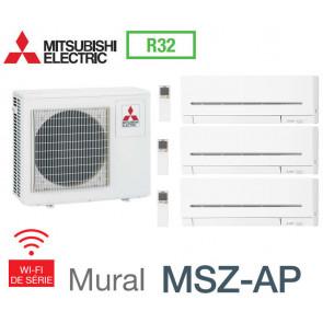 Mitsubishi Tri-split Mural Compact MXZ-3F68VF + 2 MSZ-AP20VGK + 1 MSZ-AP25VGK - R32