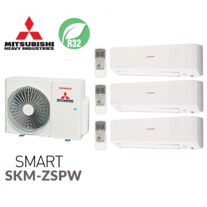 Mitsubishi Heavy Industries Tri-split SMART SCM60ZS-W + 3 SKM20ZSP-W