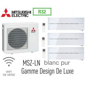 Mitsubishi Tri-split Mural Design De Luxe MXZ-3F68VF + 2 MSZ-LN25VGW + 1 MSZ-LN35VGW - R32