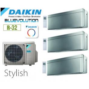 Daikin Stylish Trisplit 3MXM68N9 + 2 CTXA15BS + 1 FTXA42BS- R32
