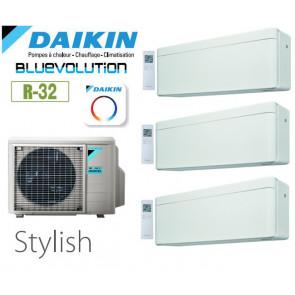 Daikin Stylish Trisplit 3MXM40N8 + 3 CTXA15AW - R32
