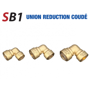 Union réduction 90° rapide 3/8'' x 1/2''