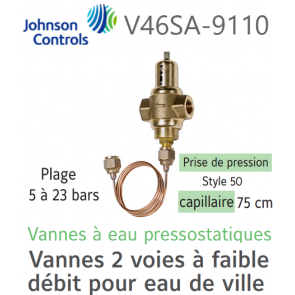 Vanne à eau pressostatique V46SA-9110 Johnson Controls