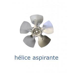 Hélice aluminium 250 mm - 28º - aspirante