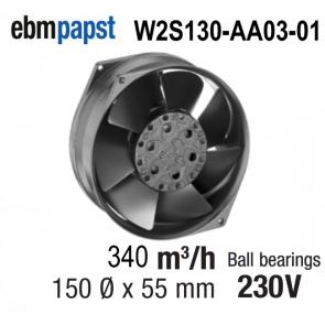 Ventilateur Axial W2S130-AA03-01 de EBM-PAPST