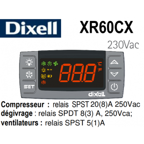 Régulateur digital XR60CX-5N0C1 de Dixell