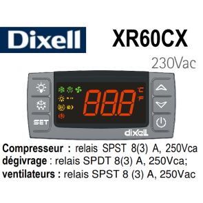 Régulateur digital XR60CX-5N0C0 de Dixell