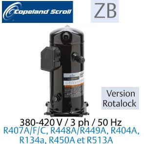 Compresseur COPELAND hermétique SCROLL ZB76 KCE-TFD-551