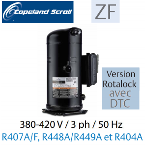 Compresseur COPELAND hermétique SCROLL ZF11 K4E-TFD-556