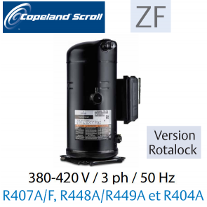 Compresseur COPELAND hermétique SCROLL ZF15 K4E-TFD-551